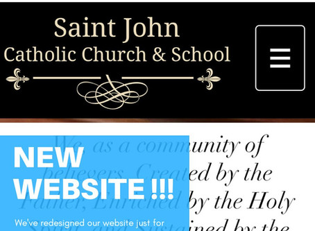 St. John Catholic Church Releases Redesigned Website