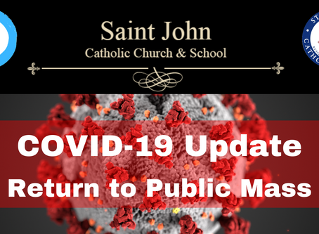 St. John Catholic Church to Resume Public Masses