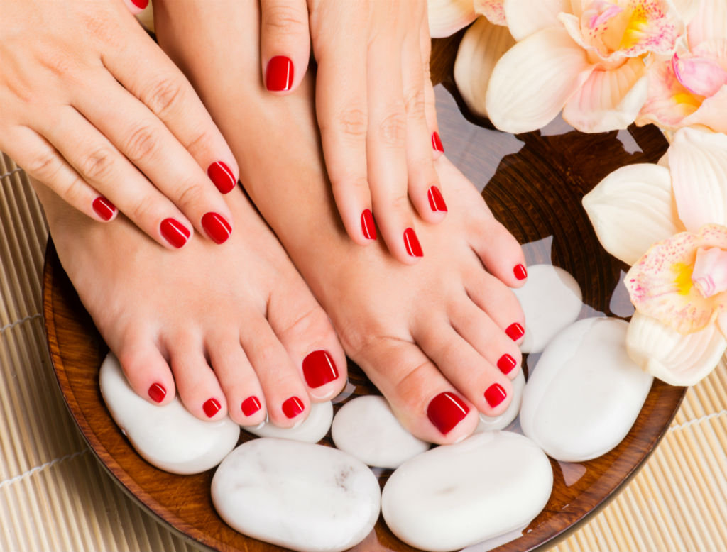 Gel Manicure and Classic Pedicure