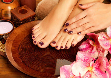 Dipping Powder and Classic Pedicure
