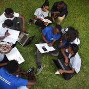 Students at Cavendish University, Zambia