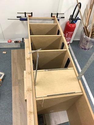 Fabrication de caissons avec tiroirs pou