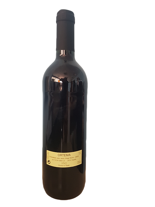 "Caja de 12 botellas de vino tinto ""recomendado"" Ortema"
