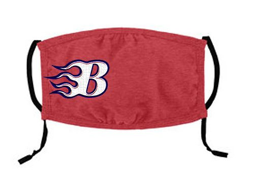 Red -Youth Sized - Blaze Face Mask - 3 ply Cotton