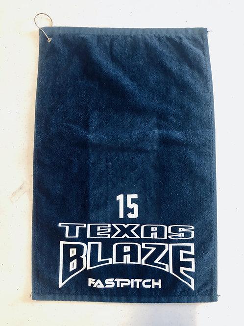 Navy Grommeted Towel