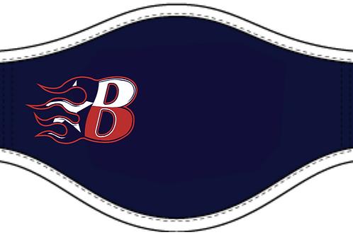 Navy -Adult Sized - Blaze Face Mask - 1 ply polyester