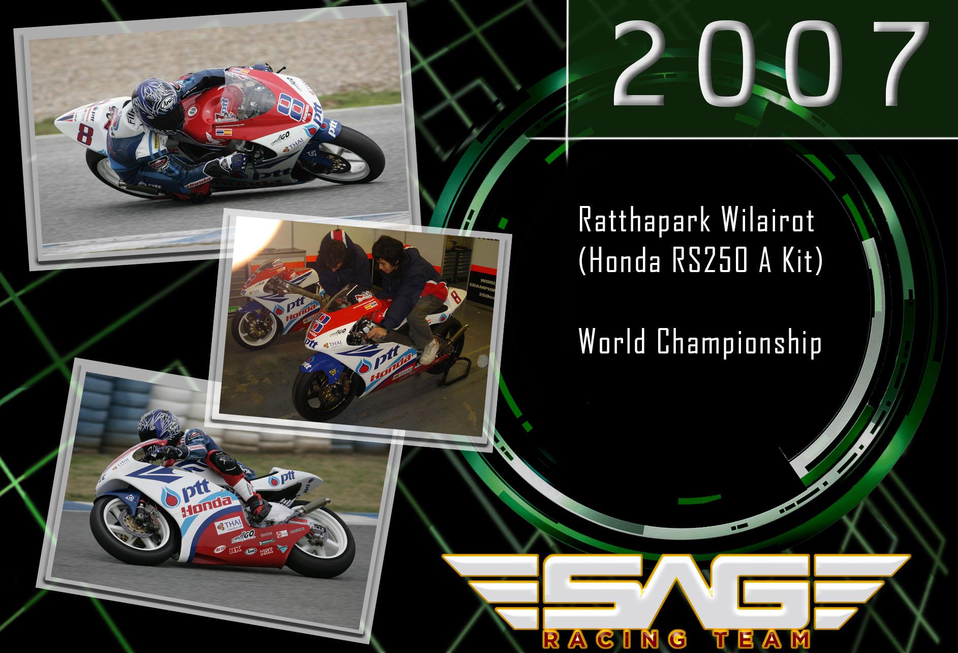 World Championship rider Ratthapark Wilairot (250cc)