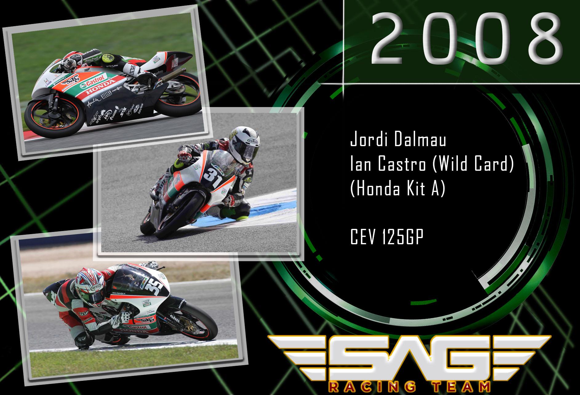 CEV riders Jordi Dalmau & Ian Castro (125GP)