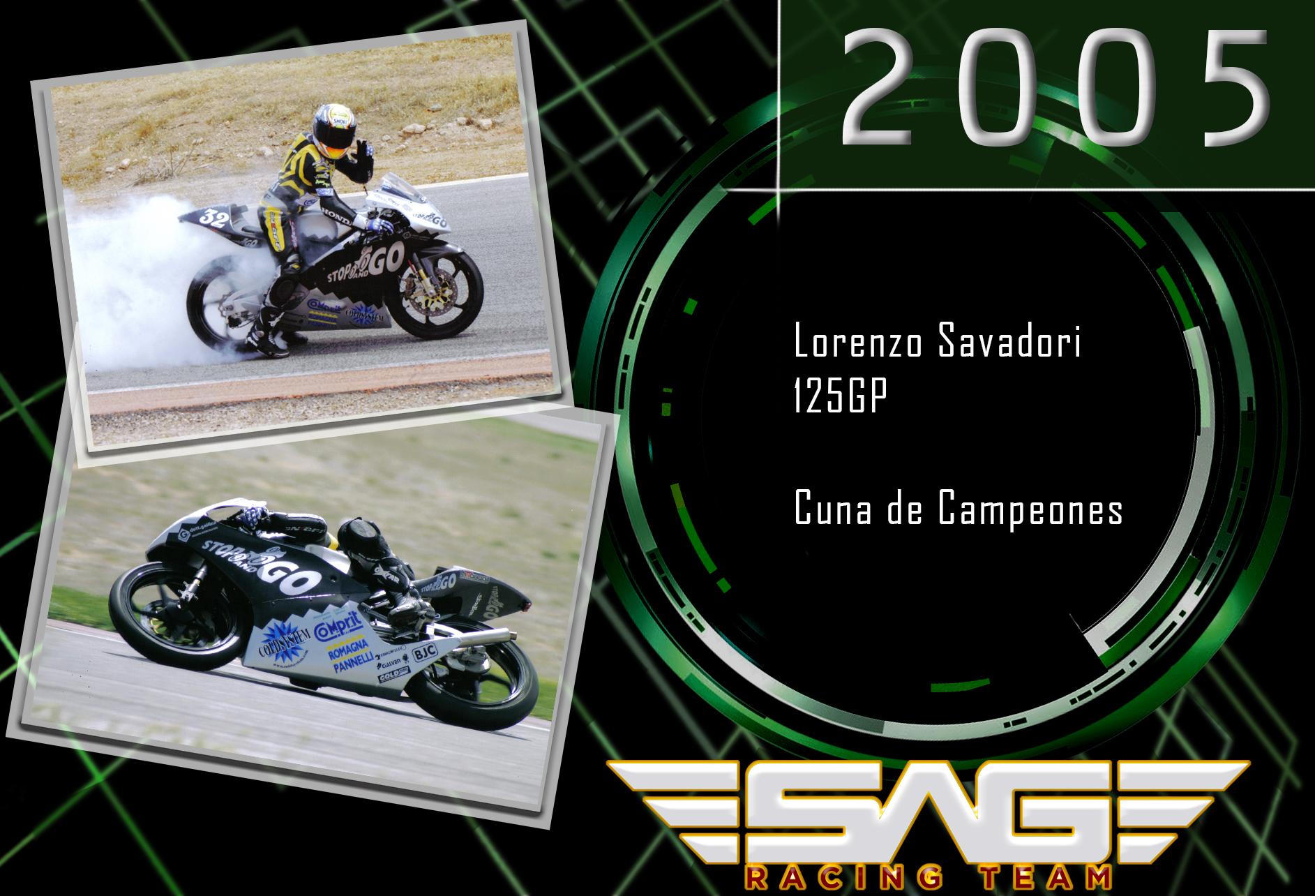 Cuna de Campeones rider Lorenzo Savadori (125GP)