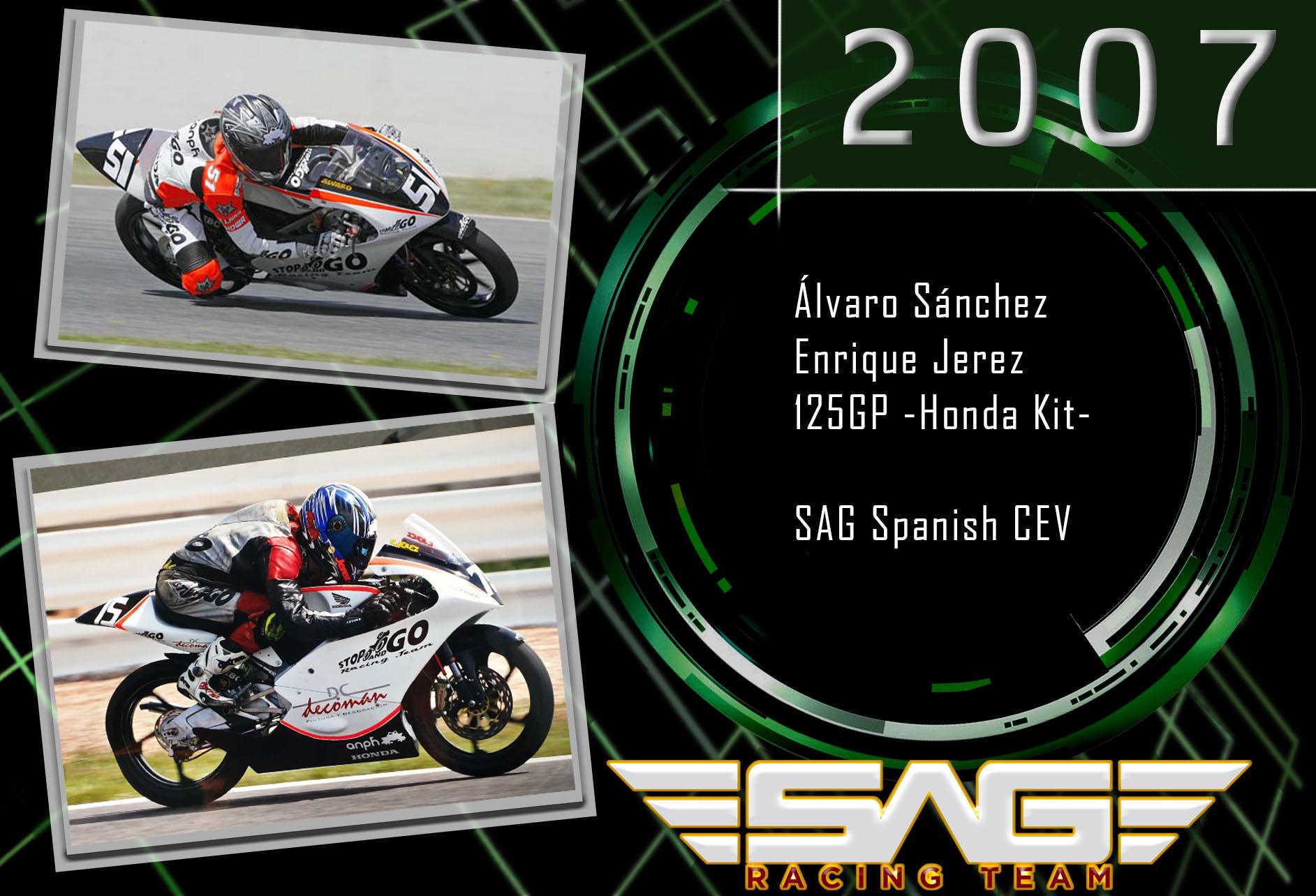CEV Riders Alvaro Sanchez & Enrique Jerez (125GP)