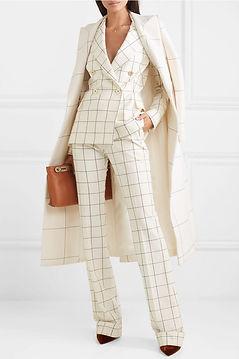btq pinterest checked cream pantsuit.jpe