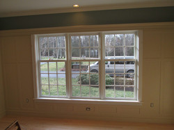 Panelling and window casement