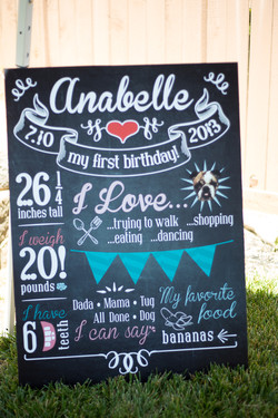 Anabelle is 1!