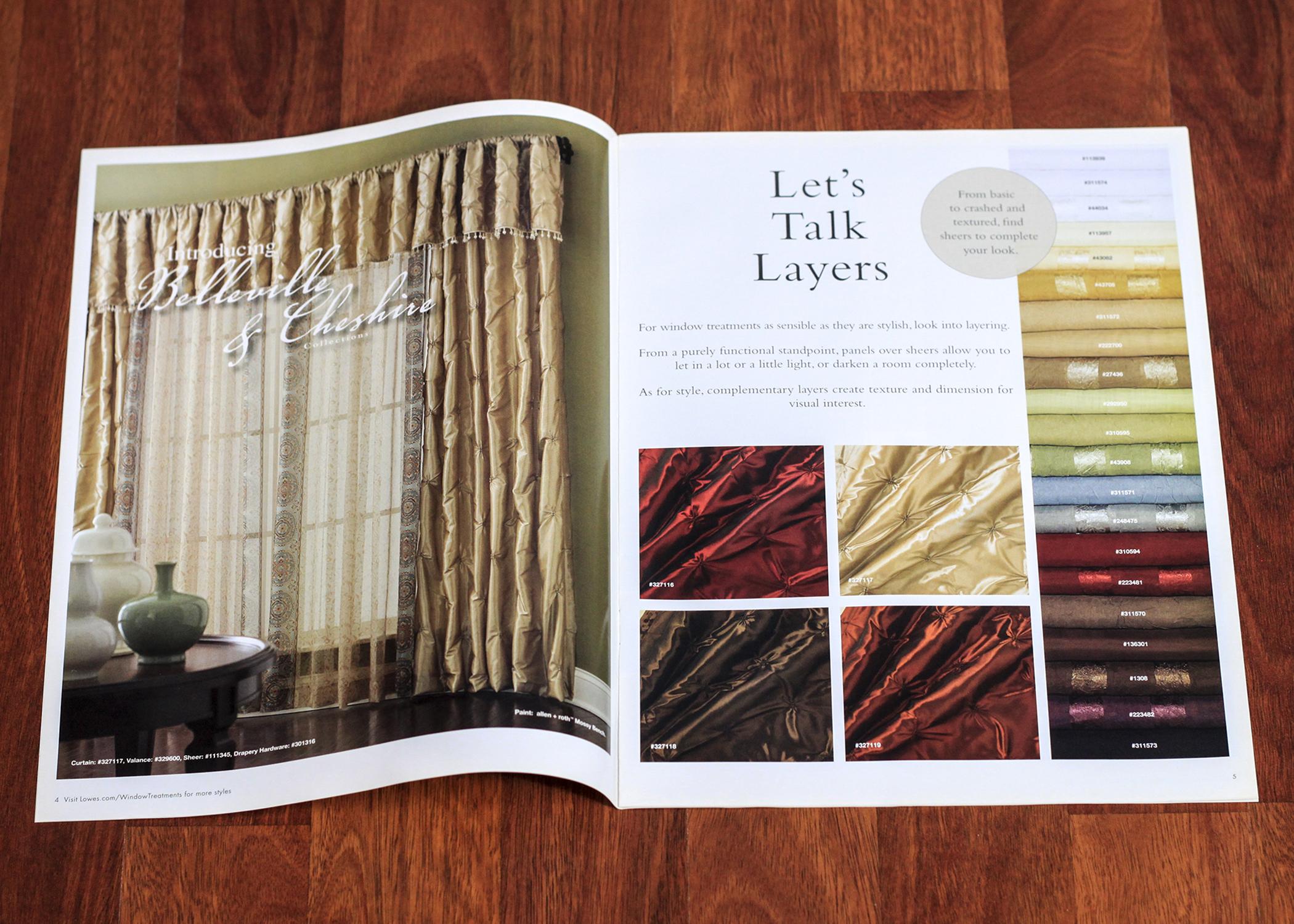 Lowe's in store brochure.