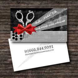 Hair stylist business card.