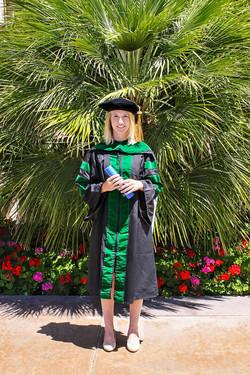 Medical school graduation photo.