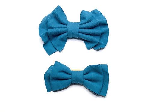 Teal Nylon Bow Headband
