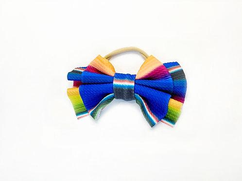 Serape Nylon Bow Headband