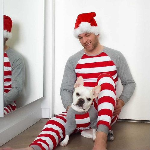 Striped - Matching Holiday Dogand Adult PJ Set