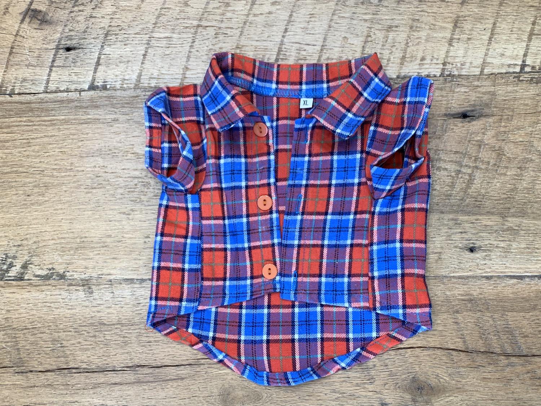 Thumbnail: Orange and Blue Plaid Flannel