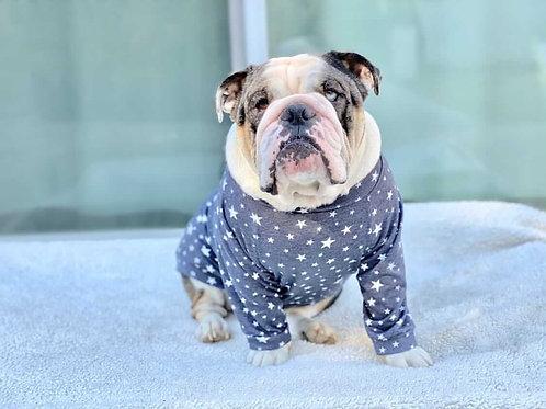 Midnight Stars Dog Shirt and Adult Pajamas