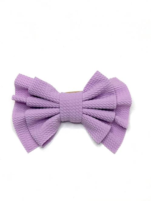 Lavender Nylon Bow Headband