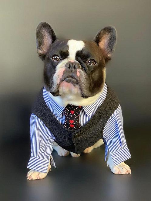 Black Tweed Suit Vest