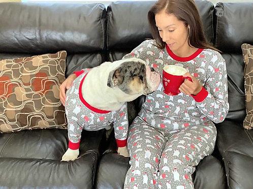 Polar Bear - Matching Holiday Dog and Adult PJ Set
