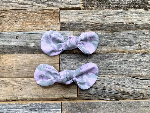 Lavender Floral Hair Bow Clip