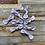 Thumbnail: Lavender Floral Hair Bow Clip