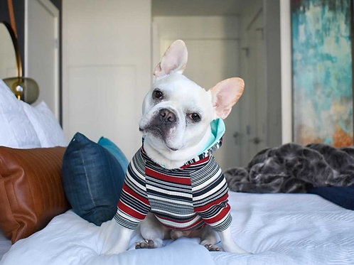 Retro Stripe Jersey Hoodie