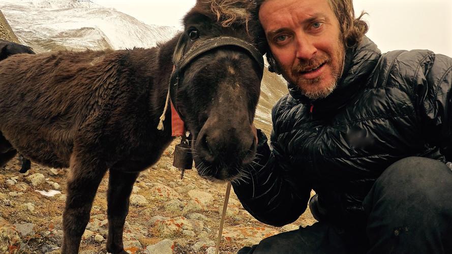 'Hector' and I - Lasermo Pass, Ladakh - 2015