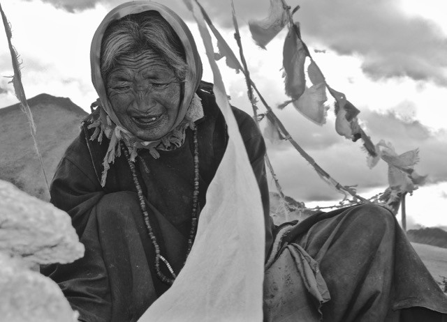 One of the year's inspirational moments took place amidst bristling winds (where so much inspiration seems to come from for me) at close to 5,000 metres. Nothing dramatic...simply a nomadic elder laying her yak cheese atop her roof to dry. Sustained by gritty DNA and their sacred pashmina goats these people are the quintessential nomads. The Karnak people have continued to defy much of the modern world's attentions...and they do it well.