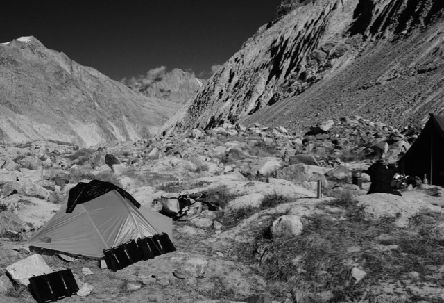 Camp will be atop moraine and ice and power will come entirely from the sun.