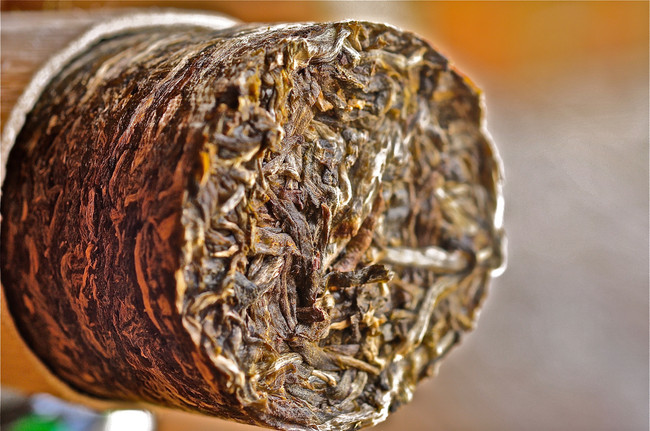 Bamboo Tea Cylinder of the Dai Minority - Menghai, Yunnan