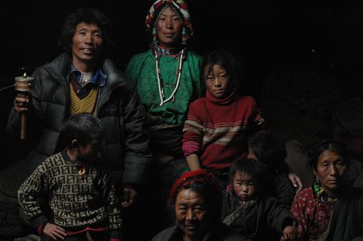 Nomadic Family & Hosts - Nup Gong La, Tibet