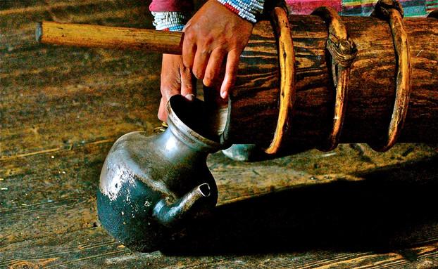 Butter Tea Pours - Dzogong, Tibet
