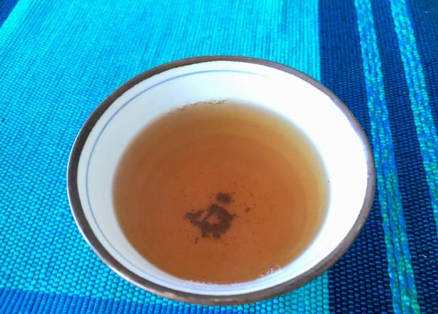 Bada Sheng Puerh Tea ready for a sip