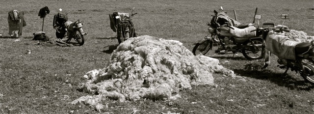 One of the ageless commodities of the mountains: wool.
