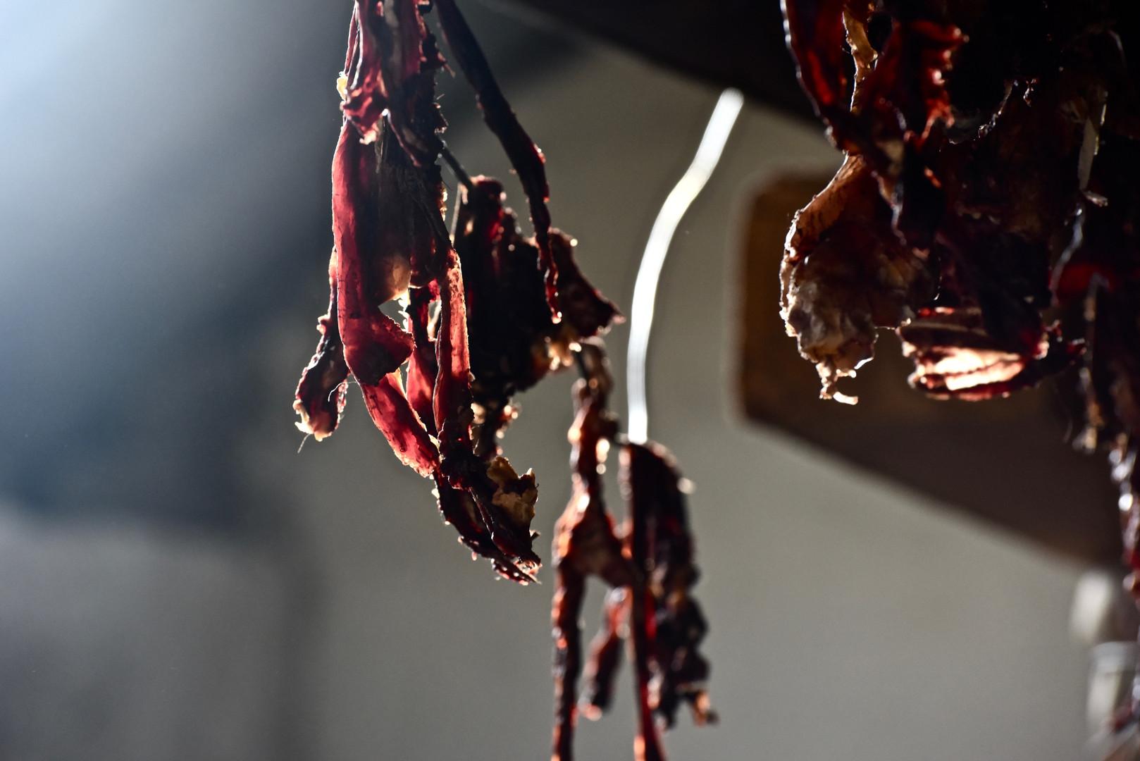 Driying Yak Meat