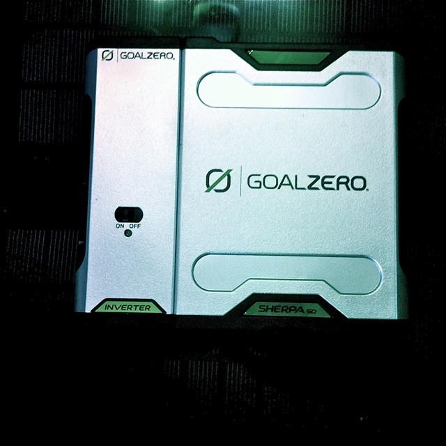 GoalZero's mighty - and brilliantly portable - 'Sherpa 50' portable solar kit.