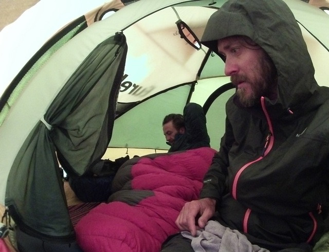 Within the realm of the tent