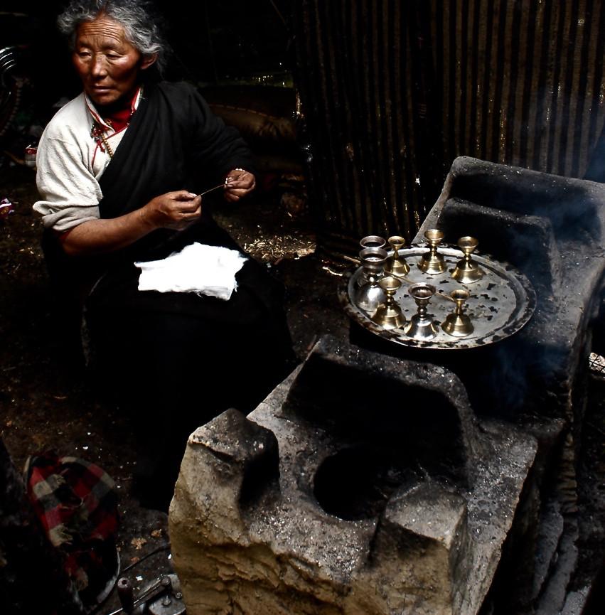 Tea Explorer within a nomadic yak wool tent