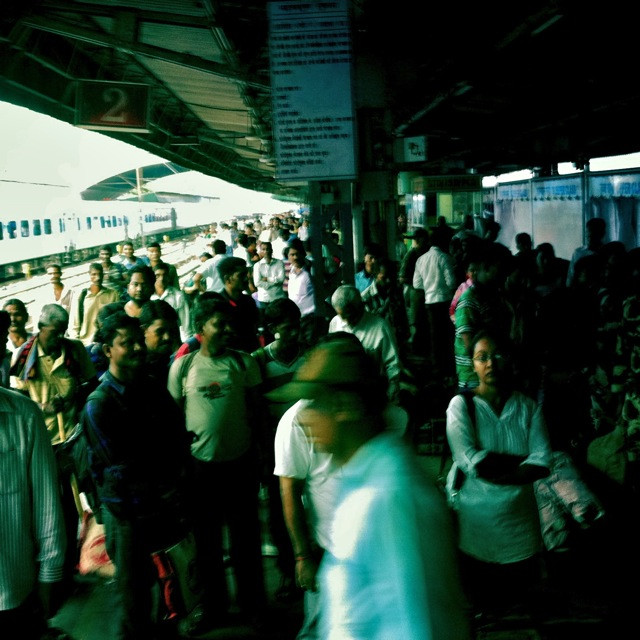 No one does colourful chaos like India. A world that moves and shifts without end. Delhi's train station