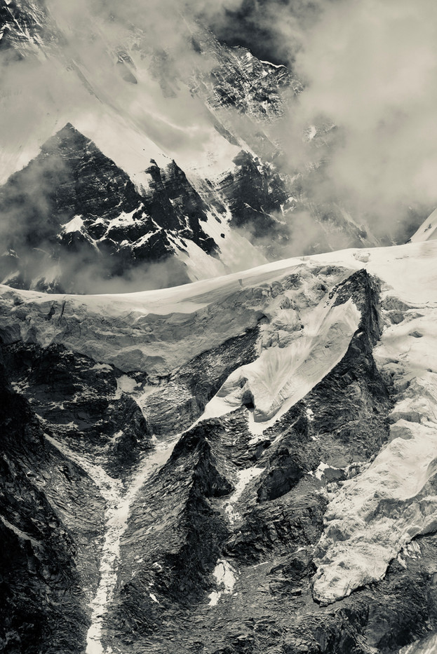 Tips and Whites - Rongbuk Glacier, Nepal
