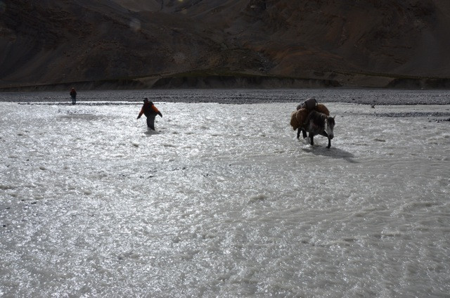 Even when the lands are flat, there are river crossings to deal with