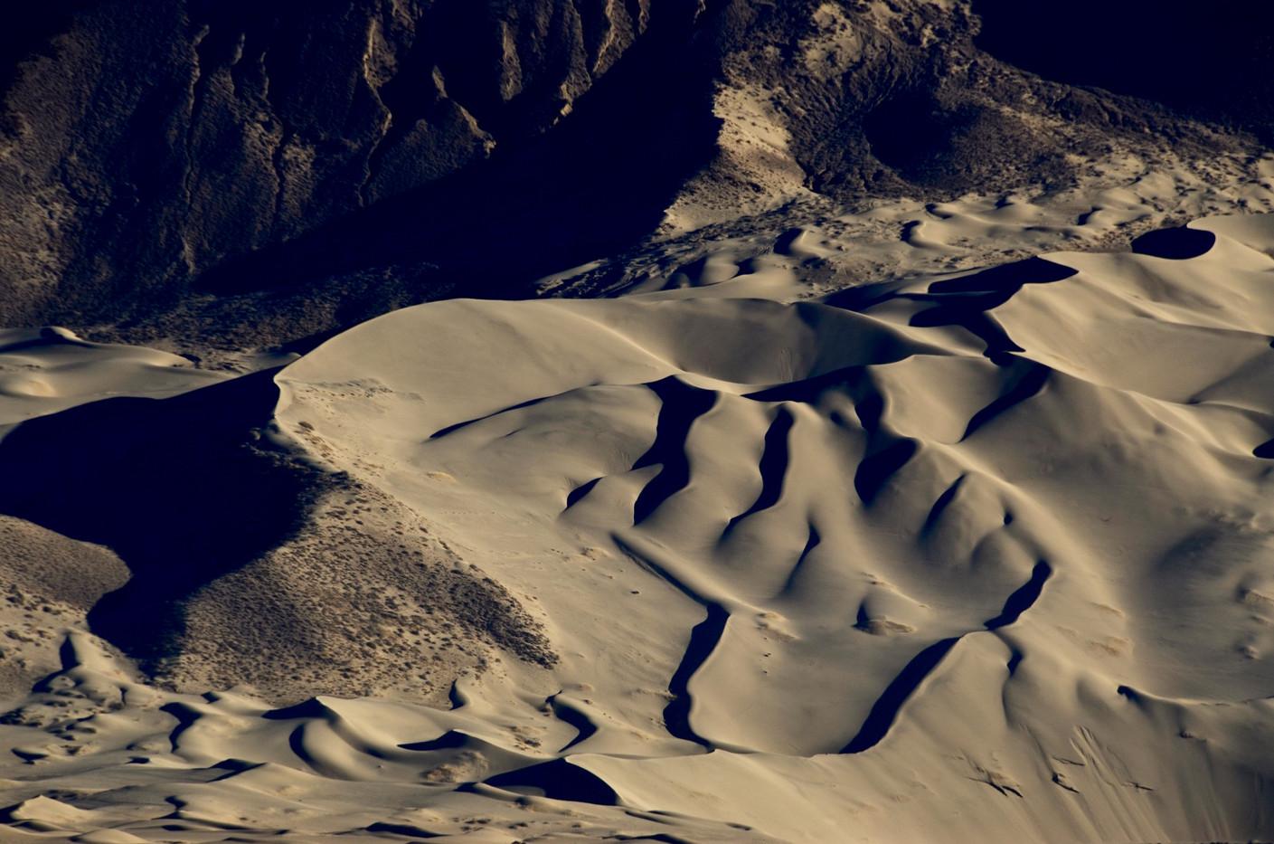 River Silt Settles in the Mountains - Tibet