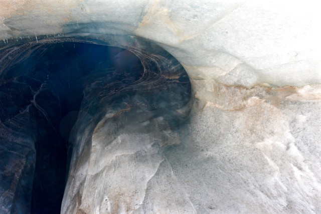 Some of the views when one descends into the glaciers. These ice tunnels can span metres in width and travel for kilometres underfoot.