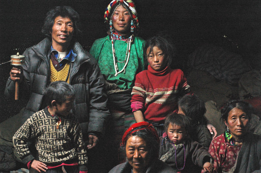 Family of A Goddess - Nup Gong La, Tibet