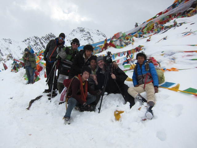 The crew atop Shola Pass. Route of Pilgrims, brigands, traders, and migrants, the Tea Horse Road pre-dates the Silk Road and was an entirely 'Asian' adventure.
